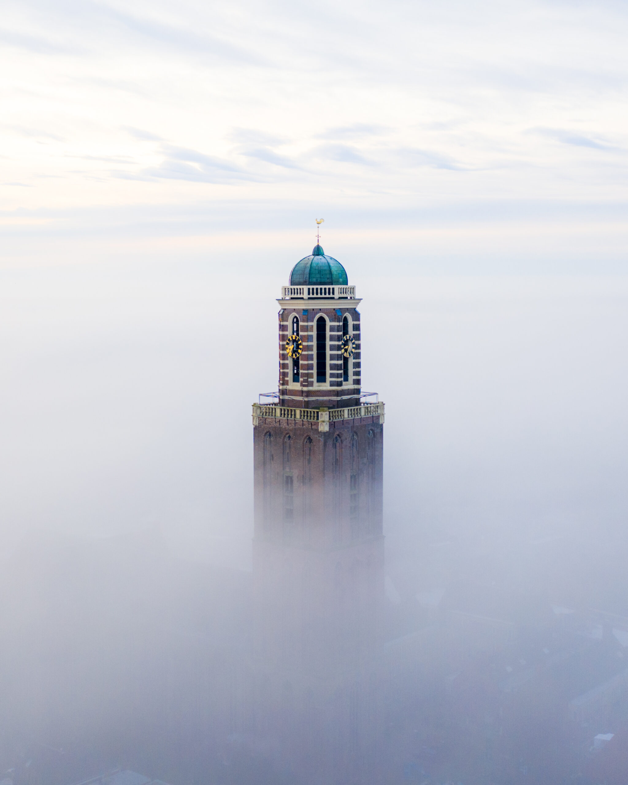 Zwolle in the mist